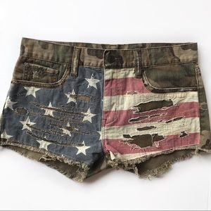 Ralph Lauren Denim&Supply Vintage USA Flag Shorts